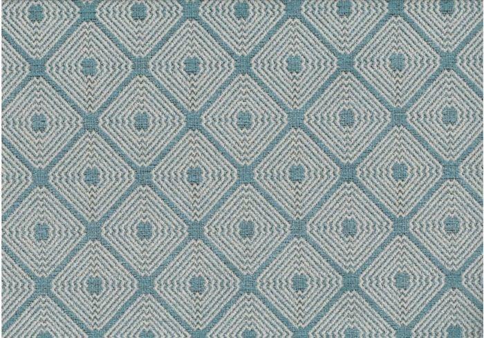 画像1: 「取寄せ」布:ロレンザッチオ(ジャカード、ブルー・アクア)/720g (1)