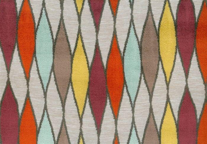 画像1: 「即納J」はぎれ69×50:イタリアーノ(ジャカード、空色、オレンジ、イエロー)/225g (1)