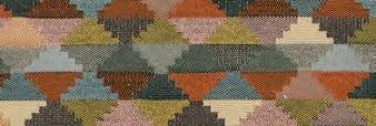 画像1: 「取寄せ」布:ティノ(ジャカード、空色・マスタード・オレンジ)/700g (1)