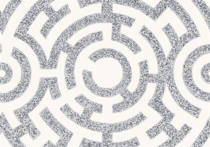 画像1: 「取寄せ」布:ラビリント(クリームベースブルー)/360g (1)
