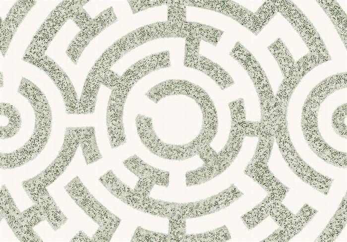 画像1: 「取寄せ」布:ラビリント(クリームベースグリーン)/360g (1)