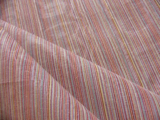 画像1: 「即納F」はぎれ70x50:フィフ(ストライプ、ピンク・オレンジ系、モアレ)/105g (1)