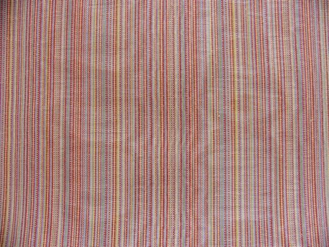 画像1: 「取寄せ」布:フィフ(ストライプ、ピンク・オレンジ系、モアレ)/420g (1)