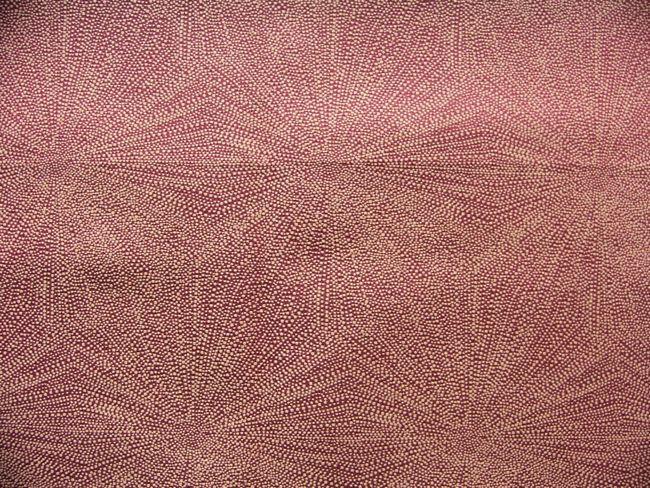 画像1: 「即納F」はぎれ70×50:ダンドリオン(ジャカード、フランボワーズ赤)/120g (1)