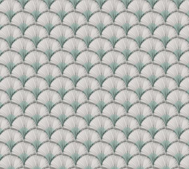 画像1: 「取寄せ」布:パピルス(クリームベースブルーグリーン)/380g (1)