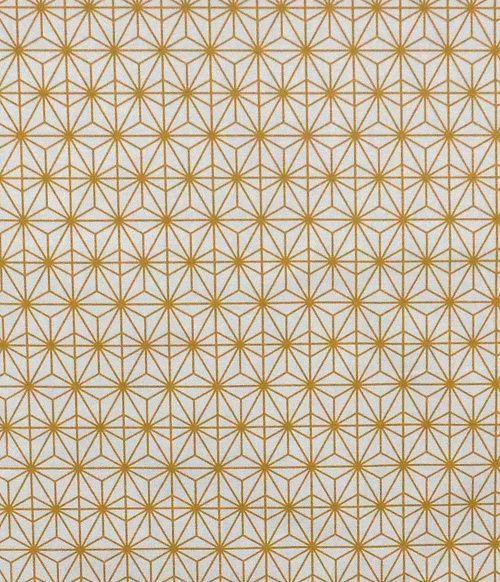 画像1: 「取寄せ」布:撥水加工ソレイユ・ドリエント(クリームベースマスタード)/510g (1)