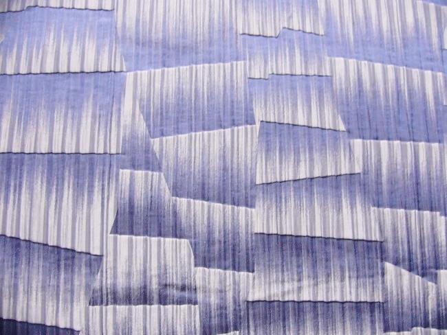 画像1: 「即納F」はぎれ71×50:ウェーヴ(ジャカード、ブルー)/ 128g (1)