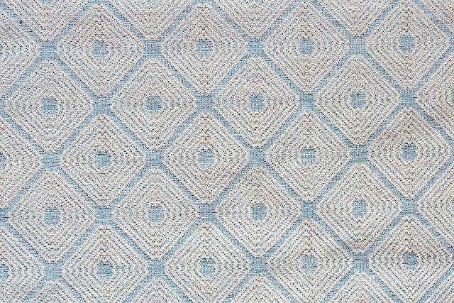 画像1: 「即納F」はぎれ70×50:ロレンザッチオ(ジャカード、ブルー・アクア)/180g (1)