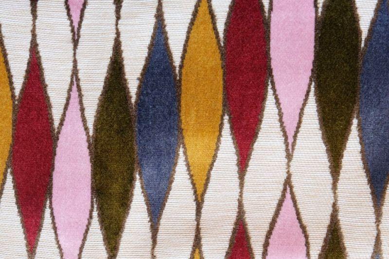 画像1: 「F在庫」はぎれ69×50:イタリアーノ(ジャカード、ピンク、オリーヴ、ブルー)/225g (1)