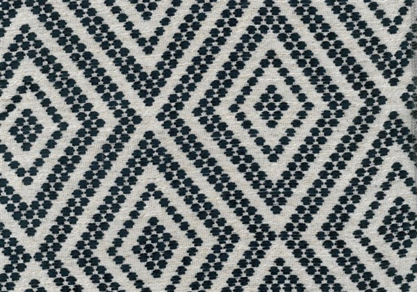 画像1: 「取寄せ」布:フォークロア(ジャカード、マリンブルー)/650g (1)