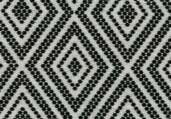 画像1: 「取寄せ」布:フォークロア(ジャカード、 黒)/650g (1)