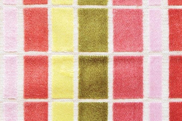 画像1: 「即納F」はぎれ68×50:ユージーン(ジャカード、チェック、ピンク・オリーブ)/220g (1)