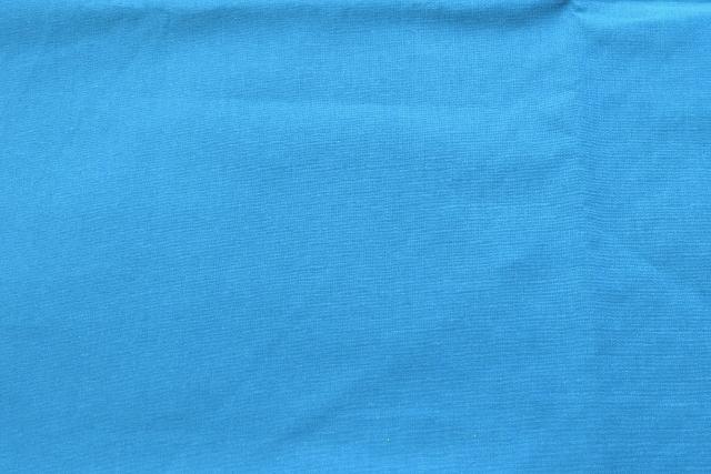 画像1: 「即納J」 はぎれ75×50:薄手コットン無地(色番55 トラフィックブルー)/75g (1)