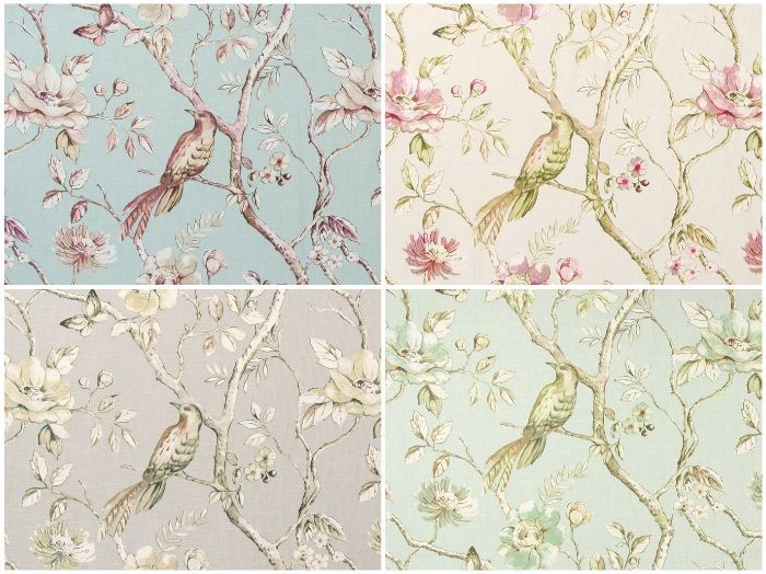 画像1: 「取寄せ」布:ダヴデイル(鳥)4色 /360g (1)