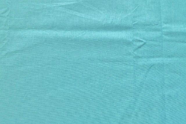 画像1: 「即納F」 はぎれ75×50:薄手コットン無地(色番56 ターコイズブルー)/75g (1)