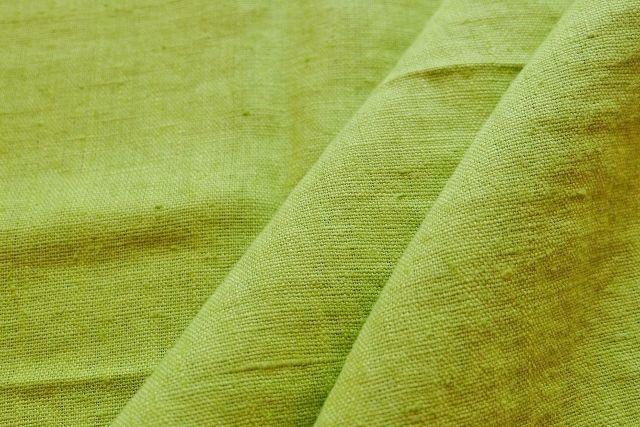 画像1: 「J即納」はぎれ70×50:ラーヴ(色番92アニスグリーン、麻) (1)