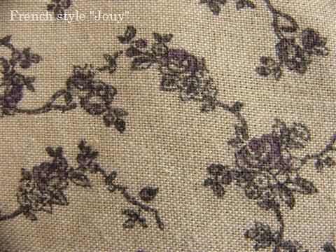 画像1: 「即納F」布:アリス(シャンブレー紫・デッサン小)長さ50cm単位 /80g (1)