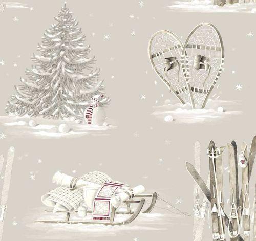 画像1: 「取寄せ」布:雪のコテージ /210g (1)