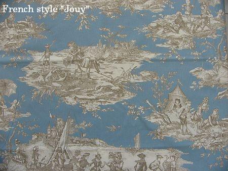 画像1: 「取寄せ」布:水の物語(ブルーグレイベース) /380g (1)
