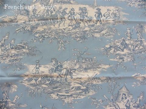 画像1: 「取寄せ」布:水の物語(空色ベース) /380g (1)