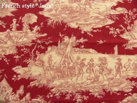 画像1: 「取寄せ」布:水の物語(赤ベース) /380g (1)