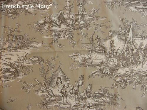 画像1: 「取寄せ」布:水の物語(麻色ベースセピア) /380g (1)