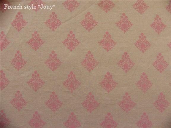 画像1: 「J即納/F在庫」布:ラトゥナ(ベージュベースピンク)長さ50cm単位 (1)